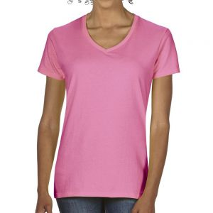 Gildan Premium Cotton női v-nyakú pamut póló