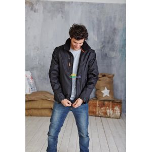 KA639 - SCORE - CONTRAST DETACHABLE SLEEVE BLOUSON JACKET
